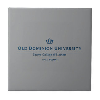 Universidad del negocio - azul de ODU Strome Azulejo Cuadrado Pequeño