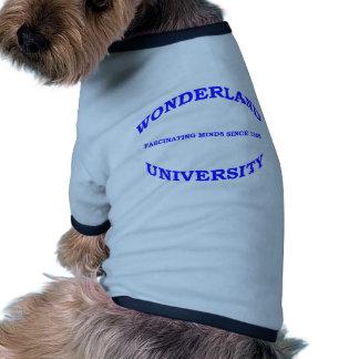 Universidad del país de las maravillas ropa para mascota