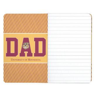 Universidad del papá de Minnesota Cuaderno Grapado
