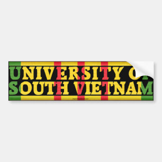 Universidad del pegatina de Vietnam del sur Etiqueta De Parachoque