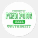 Universidad del ping-pong pegatinas