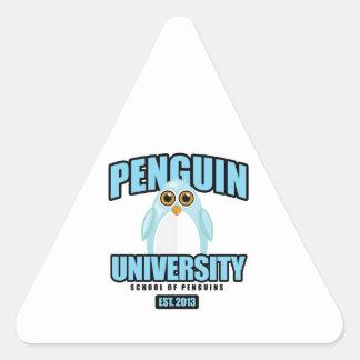Universidad del pingüino - azul pegatina triangular