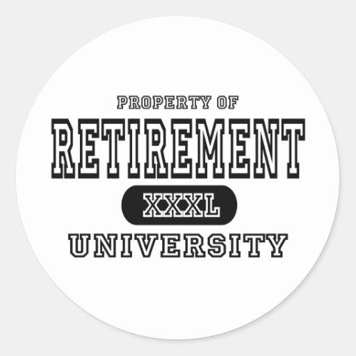 Universidad del retiro pegatina redonda