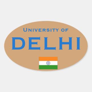 Universidad del St oval del Euro-estilo de Delhi* Pegatina Ovalada