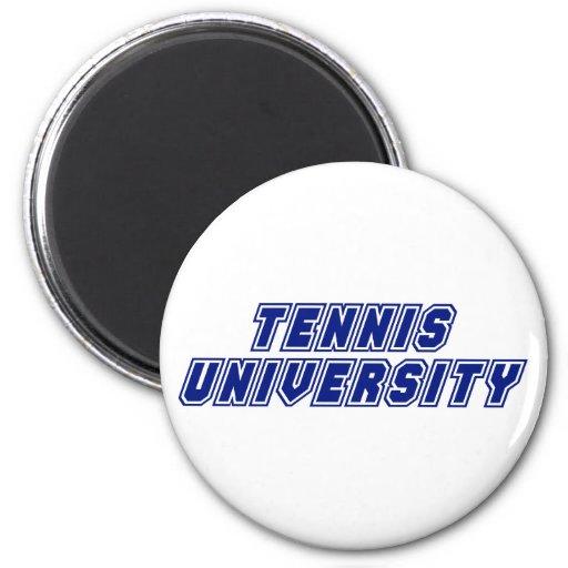 Universidad del tenis imán redondo 5 cm