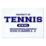 Universidad del tenis invitación 12,7 x 17,8 cm