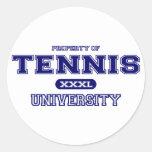 Universidad del tenis pegatinas redondas