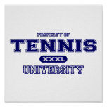 Universidad del tenis posters