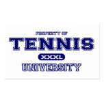 Universidad del tenis tarjetas de negocios