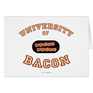 Universidad del tocino tarjeta de felicitación