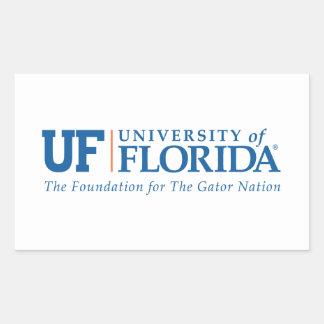 Universidad del uF de la Florida - nación del Pegatina Rectangular
