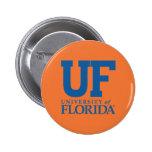 Universidad del uF de la Florida Pin Redondo De 2 Pulgadas