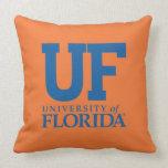 Universidad del uF del logotipo de la Florida Cojin