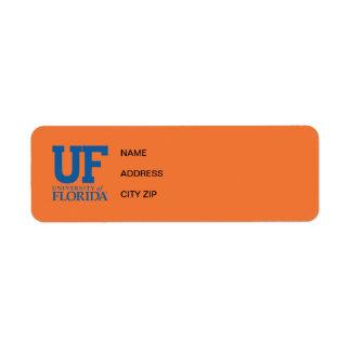 Universidad del uF del logotipo de la Florida Etiquetas De Remite