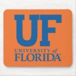 Universidad del uF del logotipo de la Florida Tapete De Ratones