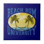 Universidad del vago de la playa azulejo cuadrado pequeño