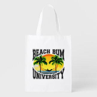 Universidad del vago de la playa bolsa reutilizable