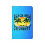 Universidad del vago de la playa cuaderno grapado