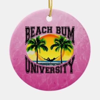 Universidad del vago de la playa adornos