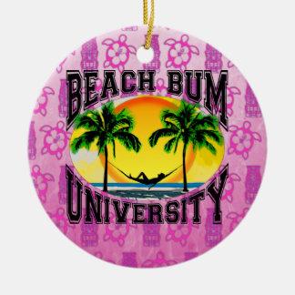 Universidad del vago de la playa ornamento de navidad