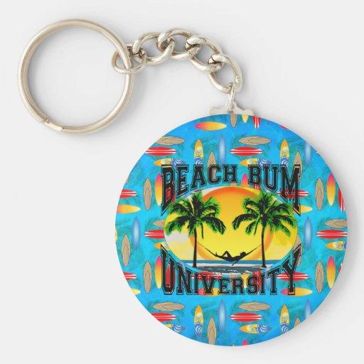 Universidad del vago de la playa llavero