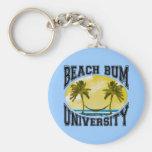 Universidad del vago de la playa llavero redondo tipo chapa