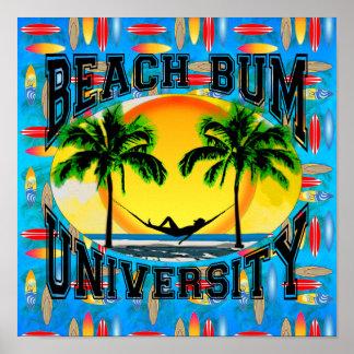 Universidad del vago de la playa poster