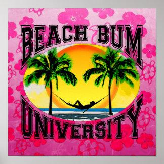 Universidad del vago de la playa posters