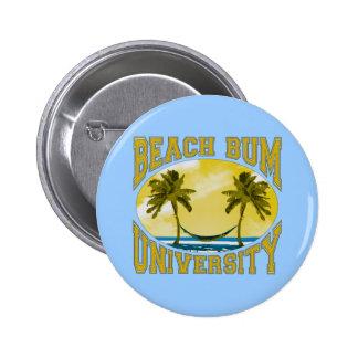 Universidad del vago de la playa chapa redonda 5 cm