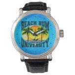 Universidad del vago de la playa relojes de pulsera
