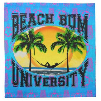 Universidad del vago de la playa servilletas imprimidas