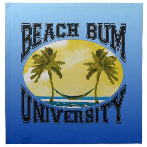 Universidad del vago de la playa servilleta