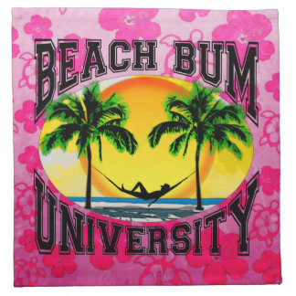 Universidad del vago de la playa servilletas