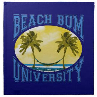 Universidad del vago de la playa servilletas de papel