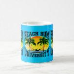 Universidad del vago de la playa tazas