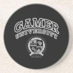 Universidad del videojugador (negro y blanco) posavasos cerveza