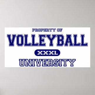 Universidad del voleibol póster