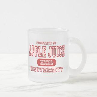 Universidad del zumo de manzana taza de cristal