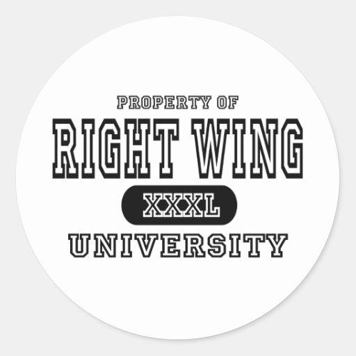 Universidad derecha de la semana pegatina redonda