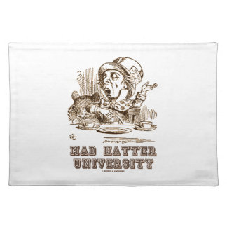 Universidad enojada del sombrerero (sombrerero mantel