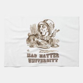 Universidad enojada del sombrerero (sombrerero toallas de mano