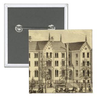 Universidad femenina Pittsburgh de Pittsburgh Pin Cuadrada 5 Cm
