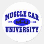 Universidad II del coche del músculo Etiquetas Redondas