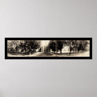 Universidad Indianola, foto 1907 de Simpson de Iow Póster