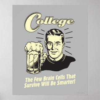 Universidad: Las neuronas sobreviven más elegante Posters