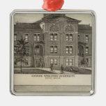 Universidad metodista de Kansas Ornamento Para Arbol De Navidad