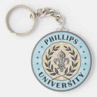 Universidad Phillips azul claro Llavero Personalizado