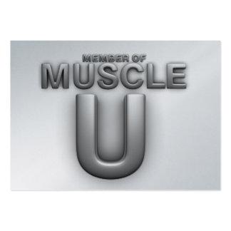 Universidad SUPERIOR del músculo Tarjetas De Visita
