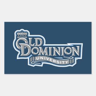 Universidad vieja del dominio pegatina rectangular