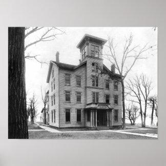 Universidad vieja, Evanston, construido en 1855 Póster